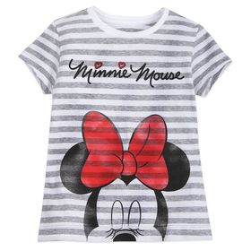 Disney Minnie Mouse Striped T-Shirt for Girls