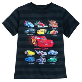 Disney Cars Striped T-Shirt for Boys