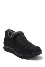 Minnetonka Faux Fur Puffer Quilted Slip-On