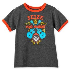 Disney Coco ''Seize Your Moment'' Ringer T-Shirt f