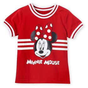 Disney Minnie Mouse Red Ringer T-Shirt for Girls
