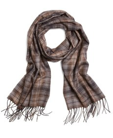 Brooks Brothers Micro Plaid Cashmere Scarf