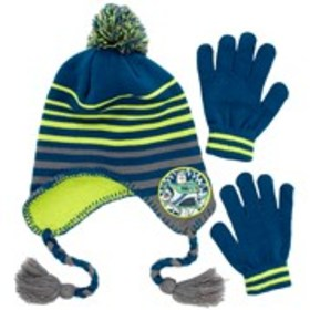 TOY STORY Boys Toy Story 4 Pom Pom Hat & Gloves Se