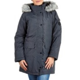 SKECHERS Snap Placket Anorak With Faux Fur Trimmed