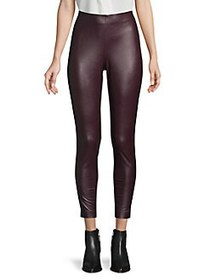 Vince Camuto Pull-On Leather Pants PORT