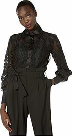 Marchesa Re-Embroidered Lace Blouse