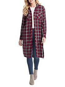 Jessica Simpson Loria Button-Up Duster Shirt SCARL
