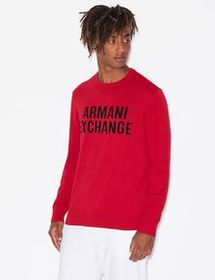 Armani PULLOVER WITH LETTERING