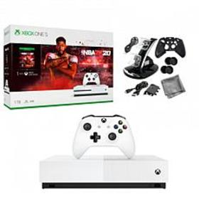 Xbox One S 1TB Console with NBA 2K20 and 10-in-1 K