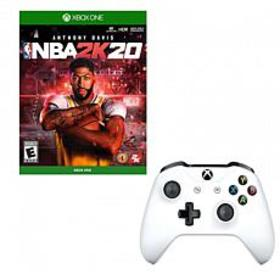 Xbox One Controller and NBA 2K20 Game
