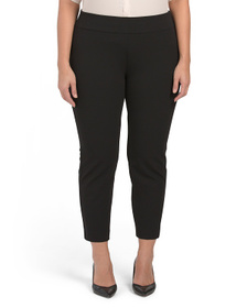 NINE WEST Plus Drapey Stretch Crepe Pants