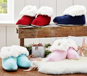 Pottery Barn Cozy Plush Slippers