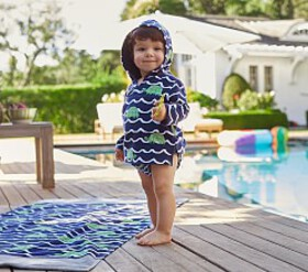 Pottery Barn Turtle Baby Cover-Up