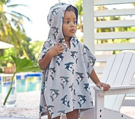 Pottery Barn Shark Baby Poncho