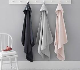 Pottery Barn Chamois Metallic Baby Hooded Towel