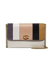 COACH Marlow Patchwork Stripes Leather & Suede Cro