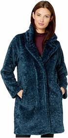 MICHAEL Michael Kors Faux Sherpa Button Front Coat