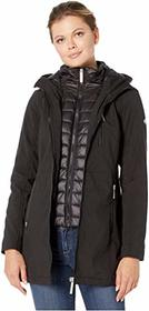 Calvin Klein Softshell Jacket with Packable Bib In