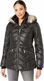 MICHAEL Michael Kors Short Down with Faux Fur Trim