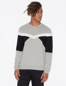 Armani PULLOVER WITH CONTRASTING INSERTS
