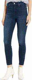 7 For All Mankind High-Waist Ankle Skinny in Deep