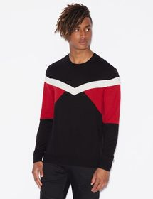 Armani PULLOVER WITH LINEAR DESIGN