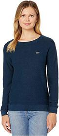 Lacoste Long Sleeve Cotton Boat Neck Sweater