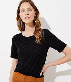 Dotted Vintage Soft Elbow Sleeve Tee