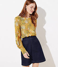 Blossom Pleated Cuff Blouse