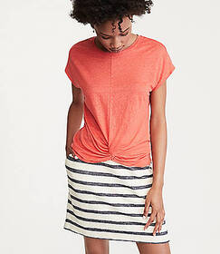 Lou & Grey Softserve Linen Twist Front Top