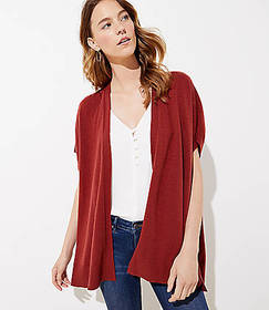 Open Poncho Sweater