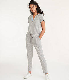 Lou & Grey Split Neck Jumpsuit