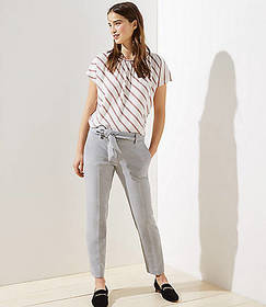 Slim Tie Waist Pencil Pants