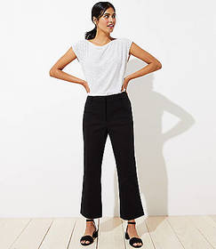 High Waist Bootcut Crop Pants