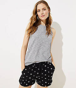 Petite Embroidered Fluid Drawstring Shorts