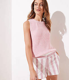Petite Striped Riviera Shorts