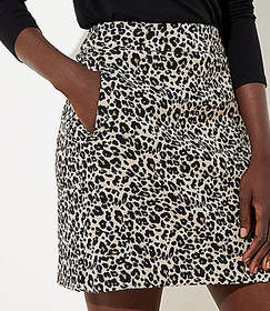 Leopard Print Shift Skirt