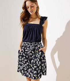 Bouquet Tie Waist Skirt