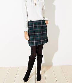 Plaid Pocket Shift Skirt