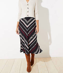 Chevron Midi Skirt