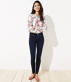 Seamed Slim Pocket Skinny Jeans in Pure Mid Indigo
