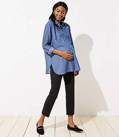 Maternity Dotted Riviera Pants in Marisa Fit