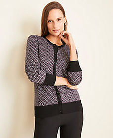 Diamond Jacquard Seasonless Yarn Ann Cardigan