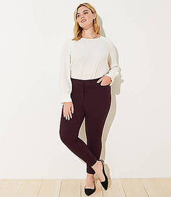 LOFT Plus Twill Skinny Ankle Pants