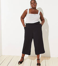 LOFT Plus Fluid Wide Leg Pants
