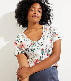 LOFT Plus Bloom Vintage Soft Tee