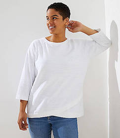 LOFT Plus Eyelet Crossover Sweatshirt