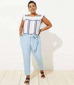 LOFT Plus Slim Tie Waist Pencil Pants