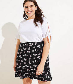 LOFT Plus Daisy Chain Ponte Flippy Skirt