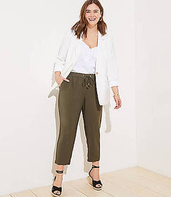 LOFT Plus Tapered Drawstring Pants